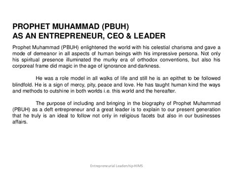 Nabi Muhammad Saw The Leader Manager Edisi Biasa qualities of prophet muhammad ﷺpbuh s an entrepreneur