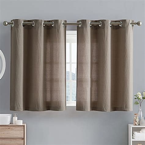 hookless window curtains hookless 174 waffle fabric 38 inch x 45 inch window curtain