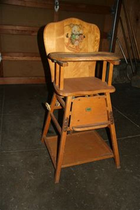 vintage folding wooden high chair vintage wooden high chair with tray it looks much
