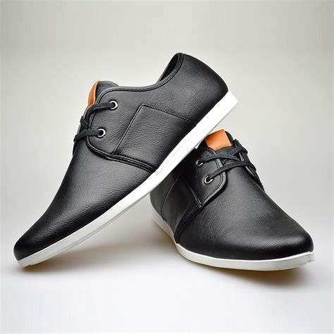 customized handmade black color leather s dress shoes