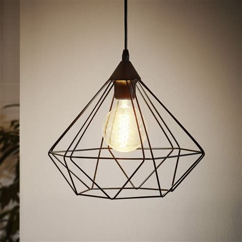 eglo pendant light eglo 94188 tarbes black cage pendant light