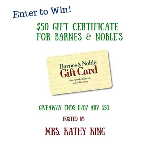 printable gift card barnes and noble 50 barnes and noble gift certificate giveaway kat balog