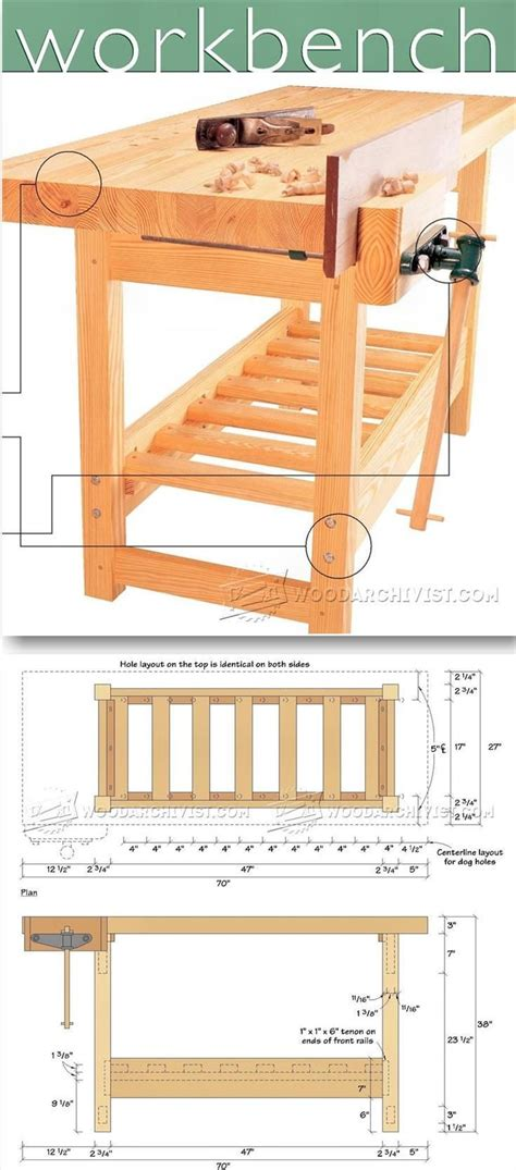 bench tips wood workbench plan workshop solutions plans tips and