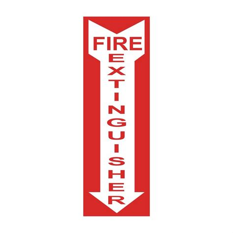 Sign Label Extinguisher extinguisher 4 inch x 12 inch safety decal sticker sign label pac99a ebay