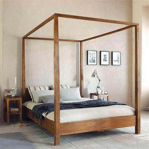 Wooden Canopy Bed Frame 25 Best Ideas About Wood Canopy Bed On Pinterest Diy Canopy Canopy Bed Curtains And Canopy Frame