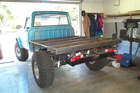 homemade truck body diy pickup truck flatbed plans plans free