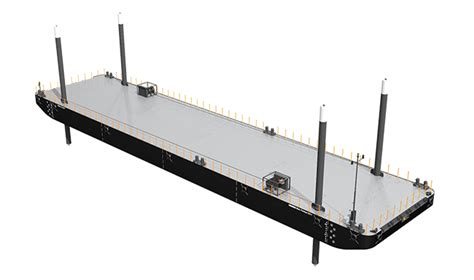 skiff meaning in english damen deck cargo pontoon of 11 m beam with unrestricted