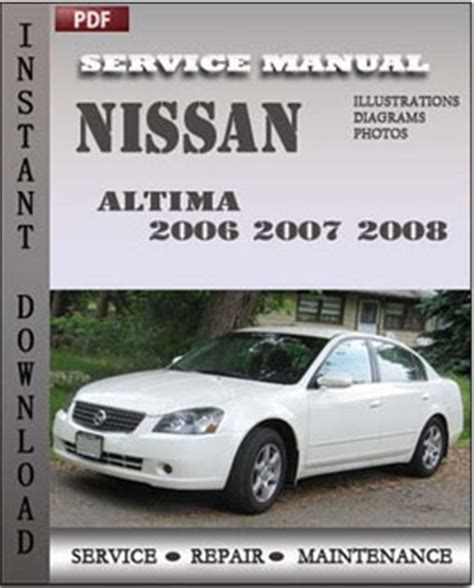 nissan altima 2006 2008 service manual pdf download servicerepairmanualdownload com