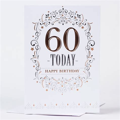 Birthday Cards For 60 Year 60th Birthday Card Traditional Only 59p