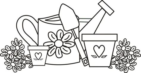 coloring page garden tools 34 best images about colouring pages on pinterest