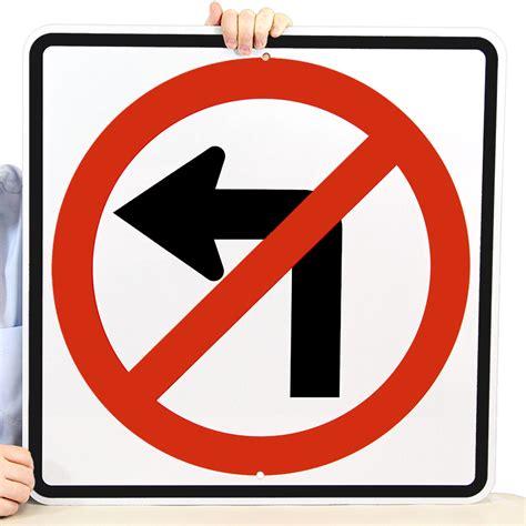 no left no left turn symbol sign r3 2 sku x r3 2