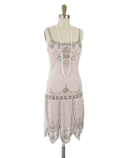beaded flapper dresses 1920s flapper style beaded chagne dress 20s inspired