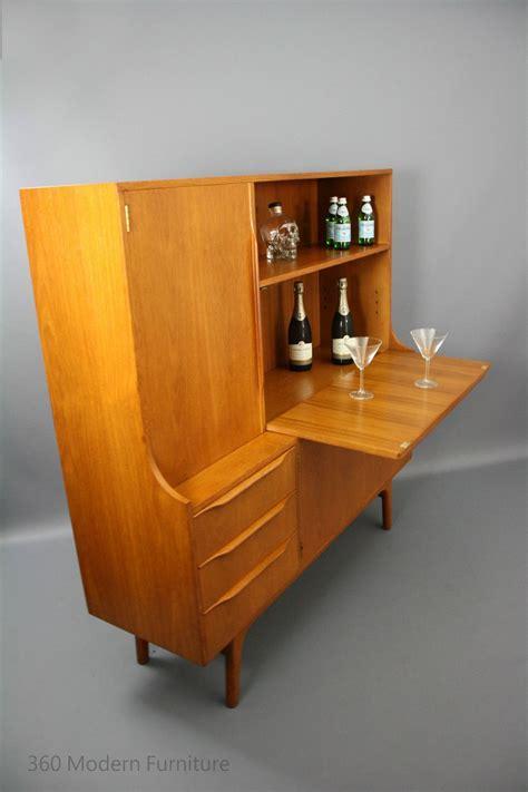 mid century noblett sideboard desk bar cabinet shelves