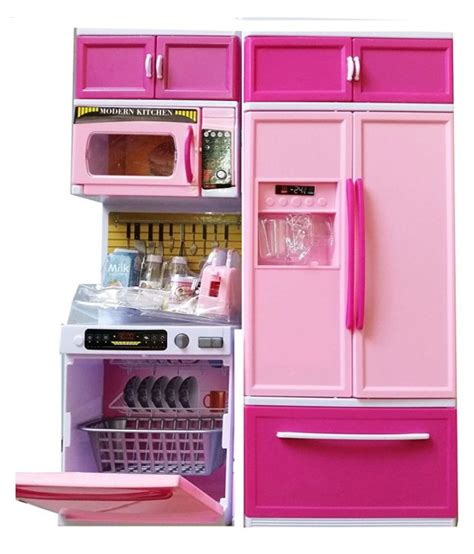 Kitchen Set Pink elektra pink kitchen set with refrigerator buy elektra pink kitchen set with refrigerator