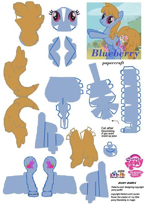 My Pony Paper Crafts - blueberry papercraft by pony pal64 on deviantart