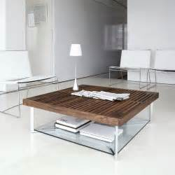 table basse bois massif dans le salon en 55 designs supers