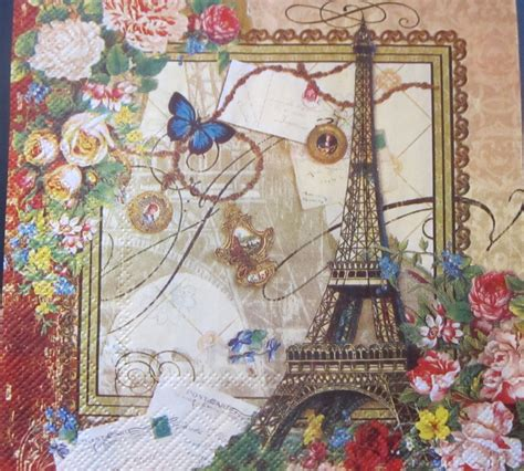 Decoupage Artwork - crafted paper napkins decoupage