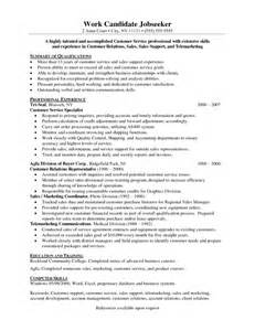 Insurance Customer Service Resume by Exle Of A Customer Service Resume Sles Of Resumes