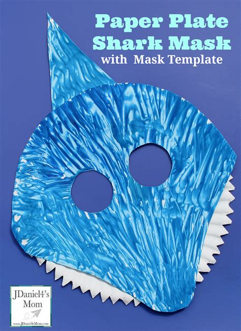 paper plate mask template paper plate shark mask with mask template