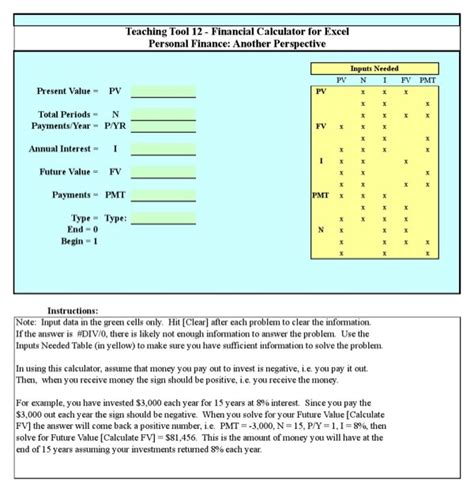 Download Financial Calculator Excel For Free Page 3 Formtemplate Financial Calculator Excel Template