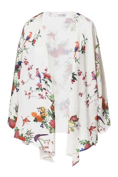 Atasan Kimono Zara Flower Line kimono el encanto con m de moda