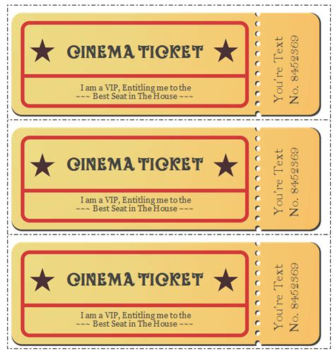 Template For Tickets by 6 Ticket Templates To Design Customized Tickets