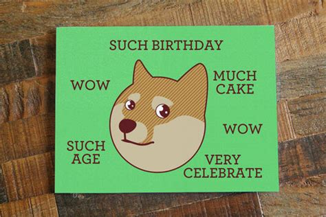 Meme Greeting Cards - funny birthday card doge quot such birthday quot internet meme