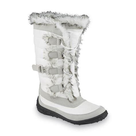 snow boots with fur river blues s remina gray white faux fur