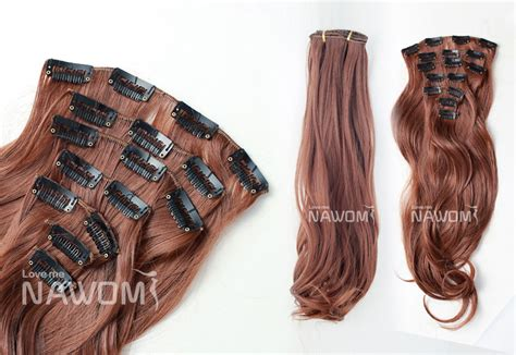 cheap hair extensions free shipping wholesale cheap synthetic hair extensions 45cm 7pcs set