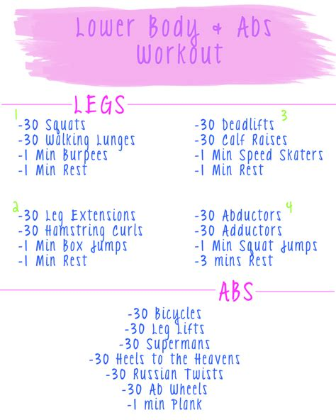 lower workout routine working on my fitness