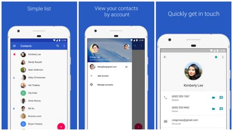 contacts app for android contacts now available on any android phone with lollipop or above