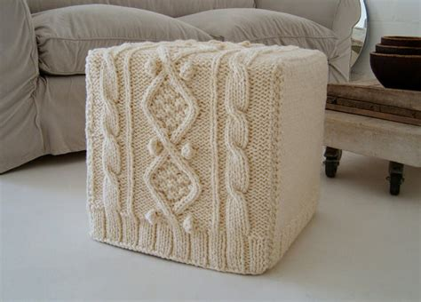 cube ottoman slipcover knitted ottoman slipcover by biscuitscout eclectic