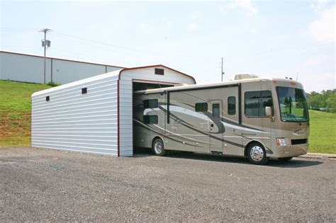 rv with car garage rv covers and cer covers metal carports and garages