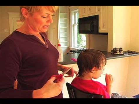 How To Cut Hair At Home by Child S Haircut How To Cut Hair At Home