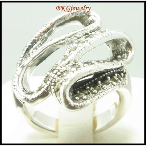 silver electroforming jewelry electroforming 925 sterling silver marcasite ring jewelry