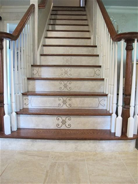Decorative Stair Risers by Carla Wales And Decorative Decoration On Stair