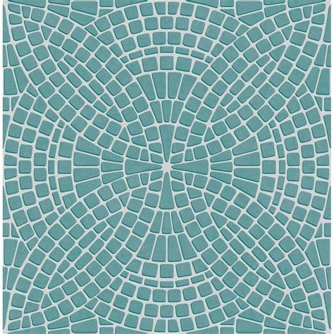 tile wallpaper decor ceramica mosaic tile effect wallpaper teal