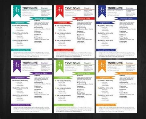 Color Resume Templates by Free Color Resume Templates Organicoilstore