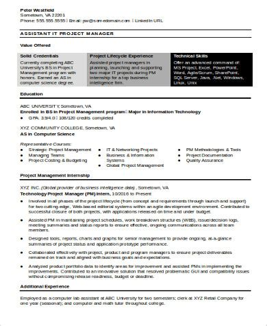 resume for project manager assistant 28 images exle