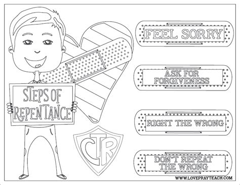 lds coloring pages repentance primary coloring pages repentance coloring pages