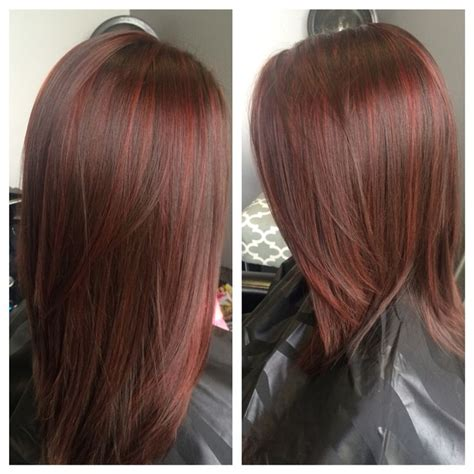 low light hair foiling placements 60 brilliant brown hair with red highlights