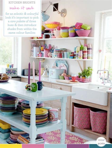 colour palette multi coloured kitchen brights bright bazaar   taylor