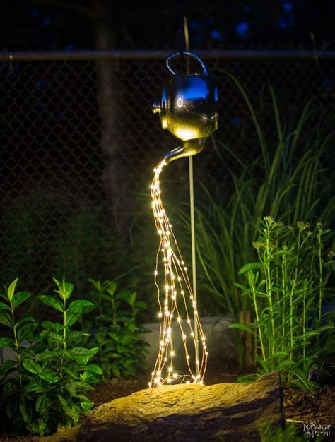 diy solar lights outdoor diy spilling solar lights teapot lights easy budget