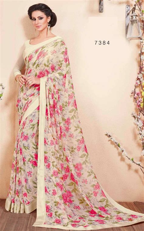 flower design sarees latest saree blouse designs georgette saree blouse floral