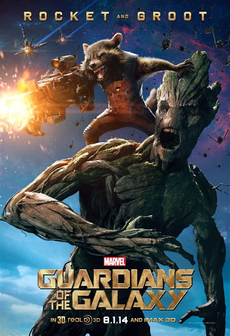 marvel film groot guardians of the galaxy exclusive character poster