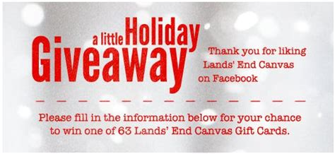 Lands End Holiday Sweepstakes - lands end canvas holiday giveaway sweepstakes win a 50 lands end canvas gift card