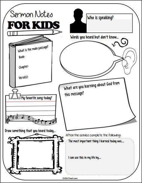printable children s church activities chsh teach sermon notes for kids