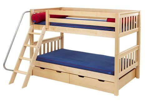 bunk bed slats hot hot bunk bed in natural wood by maxtrix kids slats
