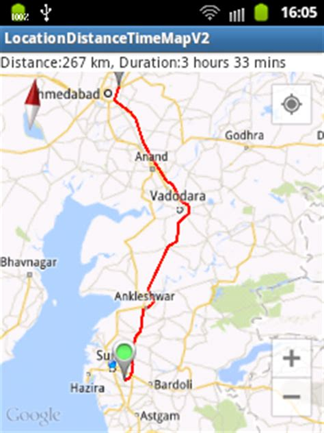 map tutorial v20 android zip android map driving distance and travel time duration