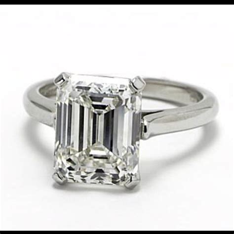 tiffany co emerald cut solitaire diamond ring swoon